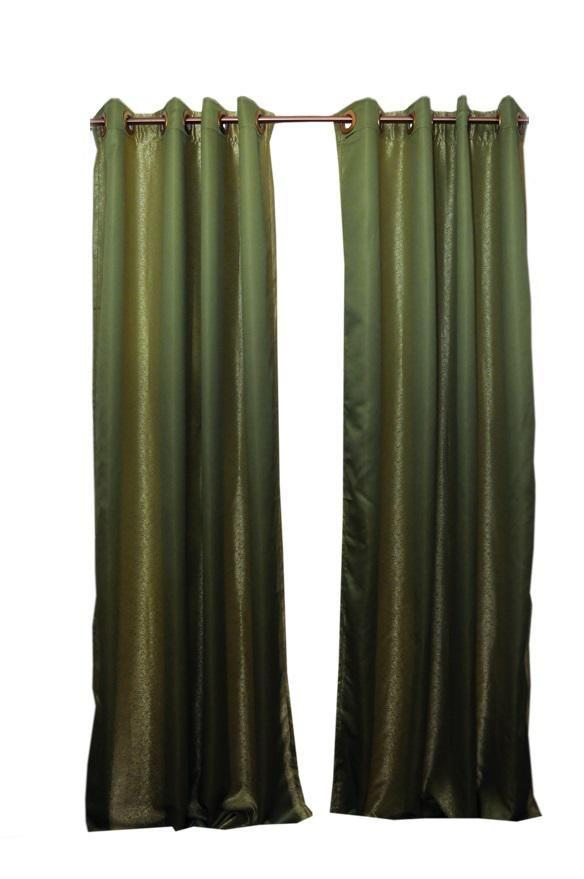 Laurel Eyelet Curtains - Green & Gold