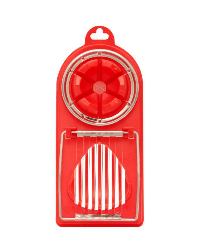 Durable Plastic Egg Slicer - RED