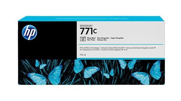 771C 775-ml Photo Black DesignJet Ink Cartridge - B6Y13A