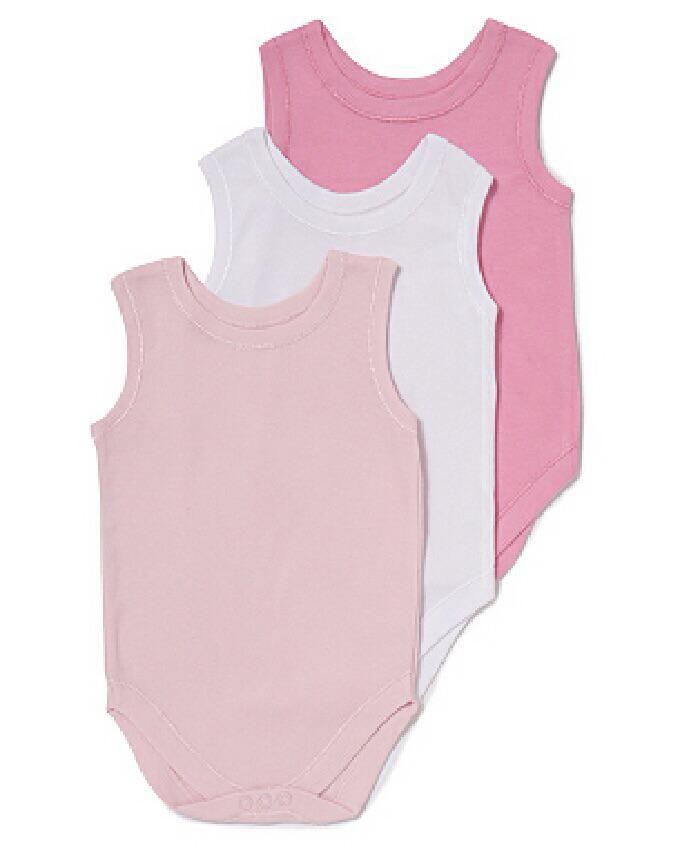 3 pack sleeveless bodysuit