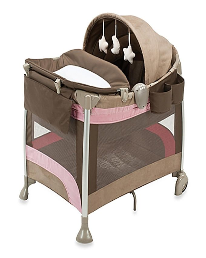 L113 Lettino Daily Plus Baby Bed - Brown/Cream