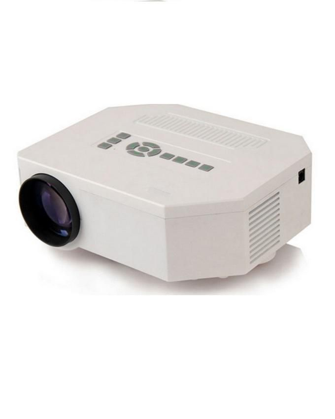Mini LED Projector 1,200 Lumens With HDMI Port & Mini Tripod Port - White