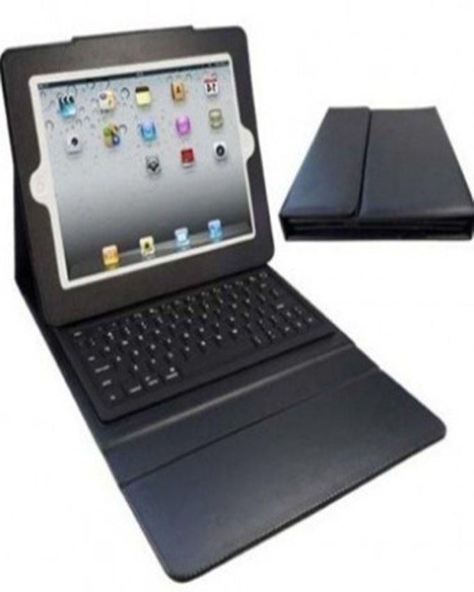 ipad 2,3 and 4 Bluetooth Keyboard and Pure leather Pouch-Black