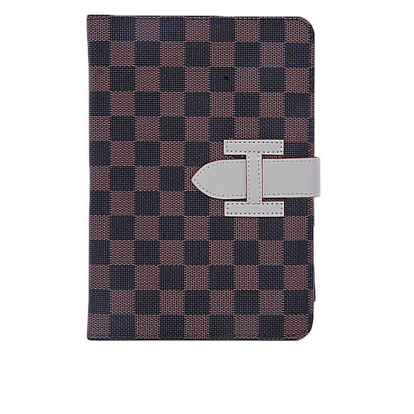 7-Inch Checkered Case for Apple iPad Mini Tablets - Brown