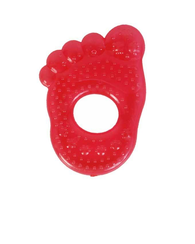 Water Filled Foot Design Teether- Red