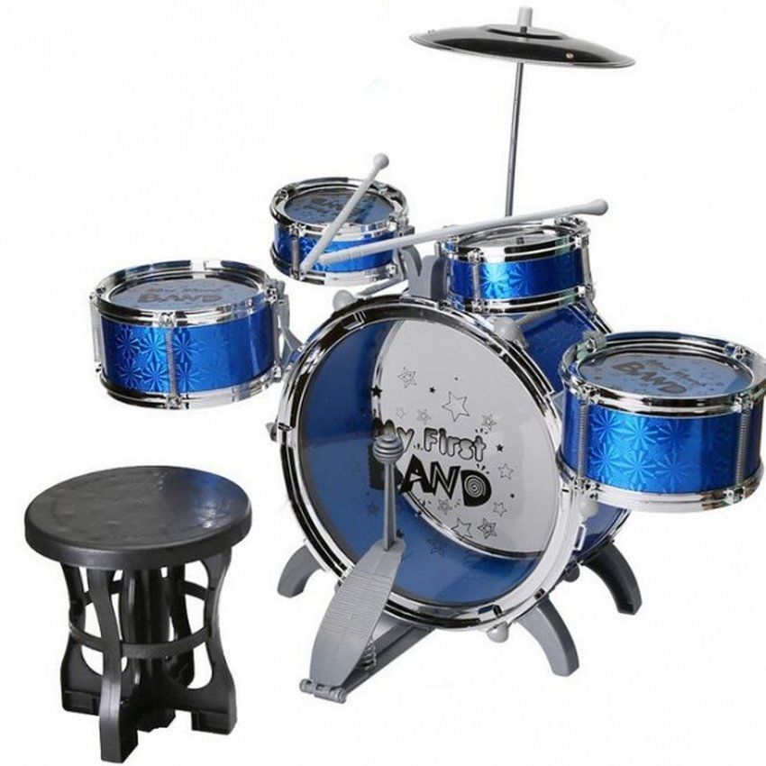 universal 10 piece jazz drum set for kids with chair blue buy online jumia nigeria. Black Bedroom Furniture Sets. Home Design Ideas