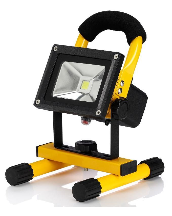 LED Rechargeable Floodlight 10 W - Yellow/Black