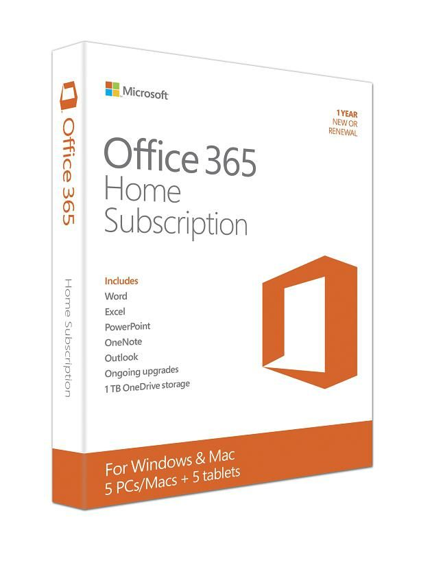 Office 365 Home Premium (Medialess. 1 Year Subscription)