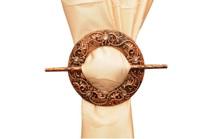 Round Curtain Buckles - Copper