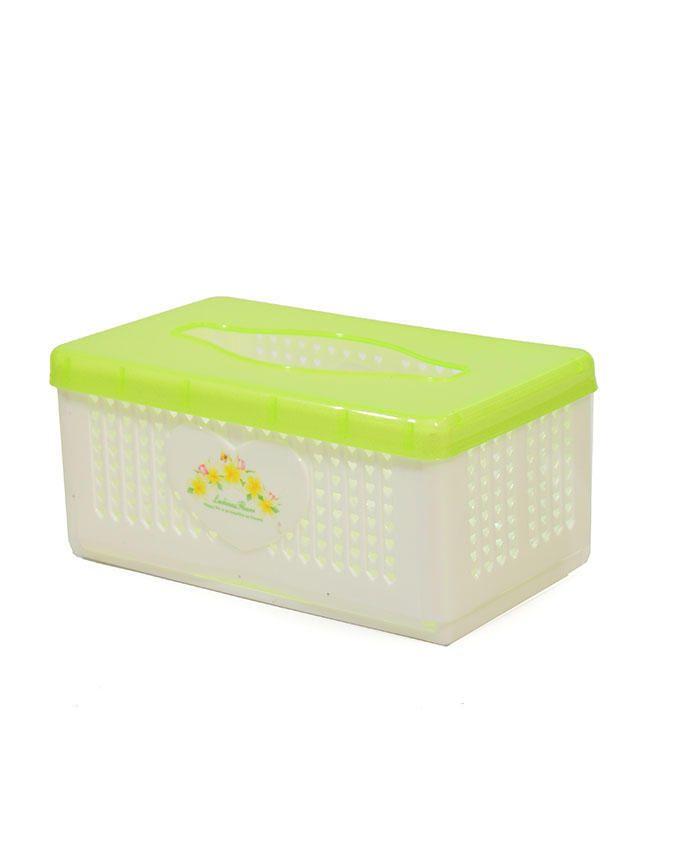 Serviette/Tissue Box - Yellow/White