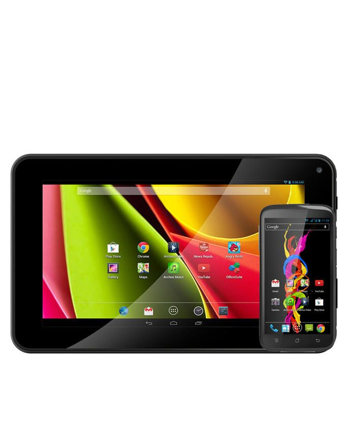 """Cobalt 70 Rockchip Dual Core-1.2 GHz (1GB,8GB HDD) 7"""" Android Tablet  + Free Titanum 40 Smartphone"""