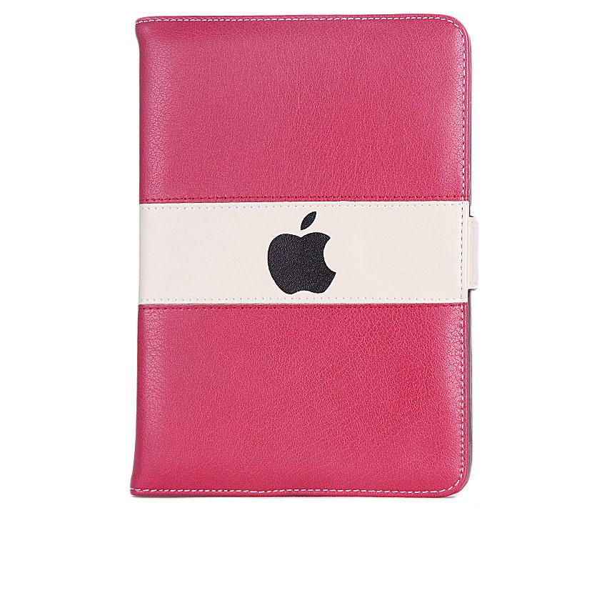 7-Inch Leather Case For Apple ipad Mini Tablet - Red/Cream