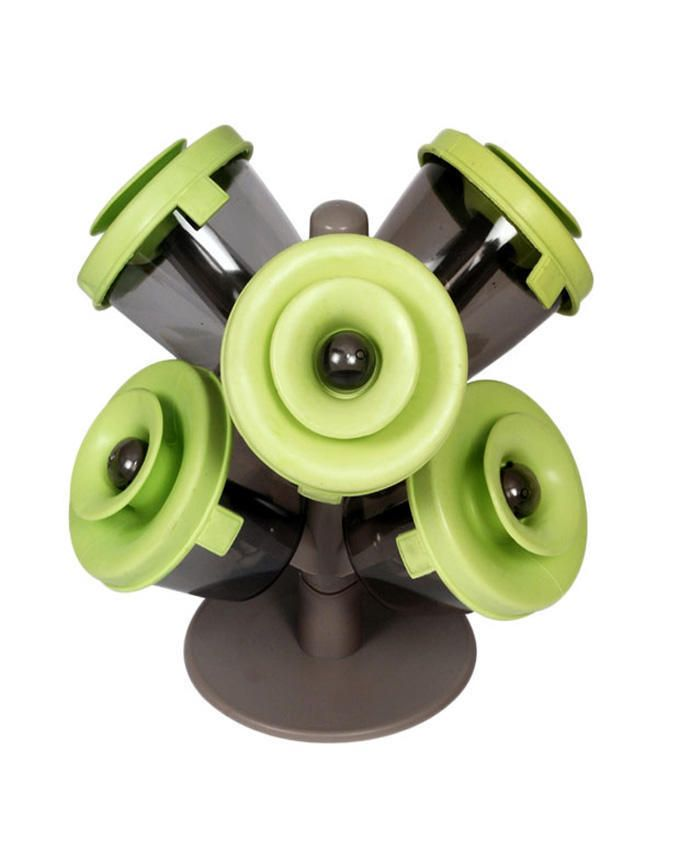 6Pcs Pop Up Spice Rack - Green