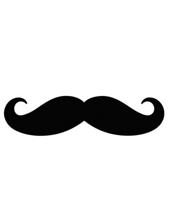 French Moustache Car Decal