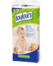 Toujours Baby Diaper - 56 Pieces