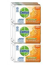 Dettol Soap Re-energize 70g: Pack of 6