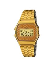 Men's Vintage Gold Tone Chrongoraph Alarm LCD Digital Watch