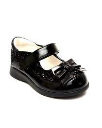 Shoe Zone Lilley Sparkle Black Kids