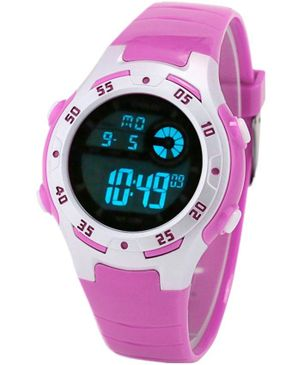 Diray Children Digital Watch LED Alarm Display - Light Purple