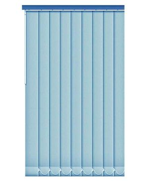 FM Vertical Fabric Window Blinds Blue Lagos Only Buy