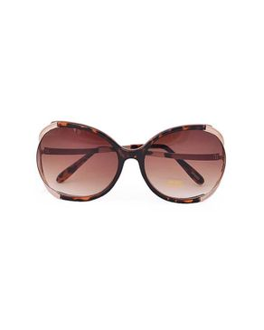 New Religion St Tropez Retro Square Sunglasses - Brown