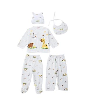 Fashion 5pcs Newborn Babies Underwear Set - White+Yellow