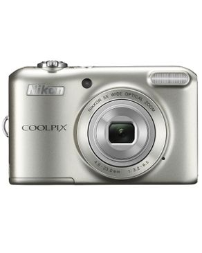 Coolpix L27 Digital Camera - Free 4GB SD Card - Rechargeable Batteries - Charger - Silver