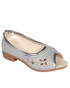 Viny Girls Dress Shoes- Silver