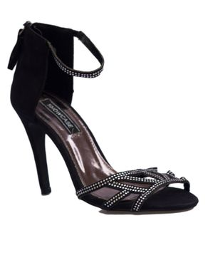 Showcase Part Embellished Sandals- Black