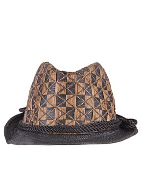 Fashion Unisex Crafted Woven Straw Hat-Brown
