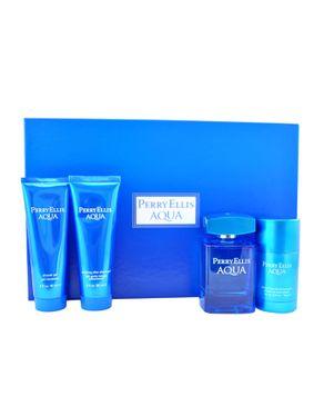 Perry Ellis Aqua 4Pcs Men Gift Set