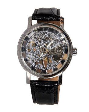 Winner Skeleton Mechanical Watch - Black