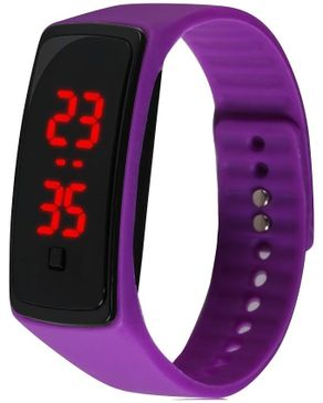 Universal LED Watch with Black Dial - Purple