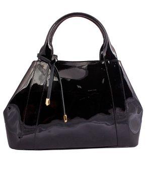 Viflan Patent Handbag - Black