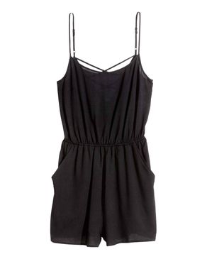 H&M Thin Strapped Jumpsuit- Black