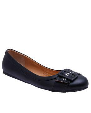 SMART LEO Smart Elegant Detailed Flat Shoe Black