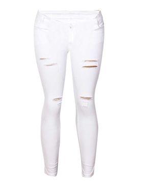 Fashion Sexy Crazy Jeans - White