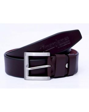 Timaro James Collection Unisex Leather Belt - Wine