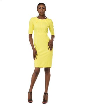 Aludra Midi Dress - Yellow