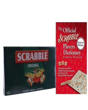 Collins Educational Scrable Dictionary + Scrable Board Game