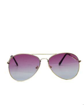 Fashion Unisex Aviator Specs - Purple/Gold
