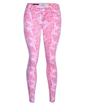 Fashion Ladies Skinny Jeans- Pink