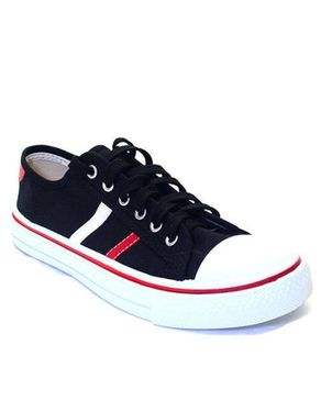 Bata Striped Sneakers - Black/Red