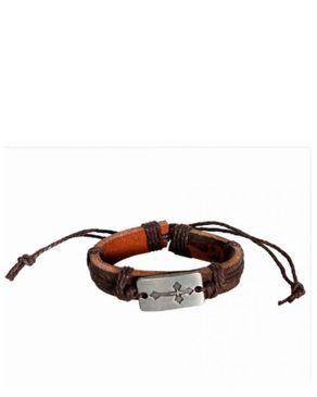 Fashion Wrist Band Genuine leather Unisex Bracelet-Brown