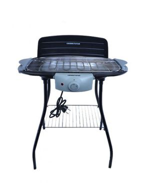 Crown Star Electric Barbeque Grill With Stand MC-EB406 - Black