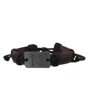 Fashion Love Engraving Unisex Band Bracelet - Brown