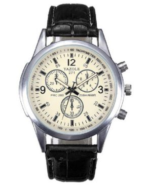 Yazole Mens Luobry Luxury Leather Watch - Brown