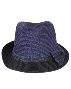 Fashion Unisex crafted Straw Hat-blue