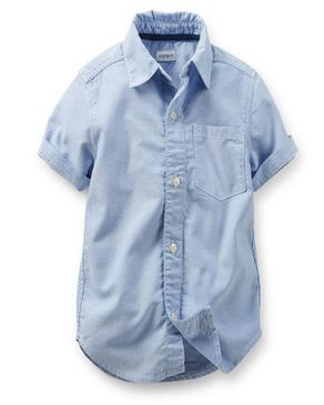 Button Down Blue Shirt (Short Sleeve)