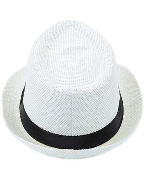 Fashion Unisex Fedora Hat Beach Sunhat [01] White